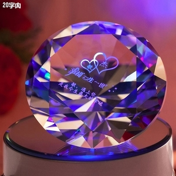 wholesale custom crystal glass diamond shape souvenir for wedding gift for guest