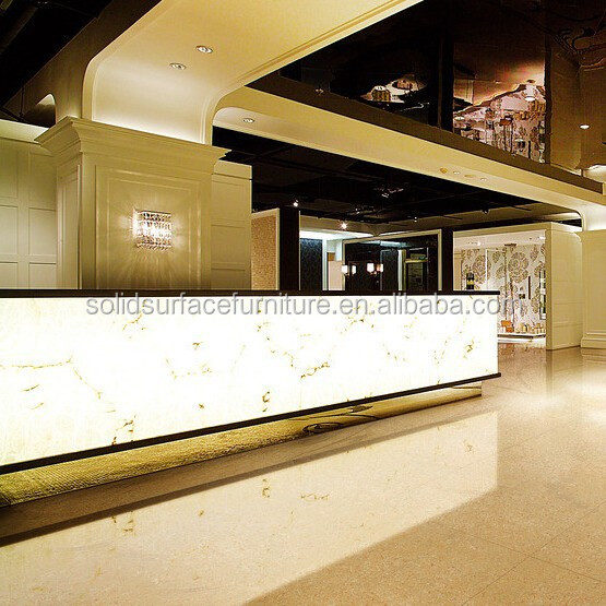 luxury illuminated hotel modern reception counter design buy hotel modern reception counterluxury hotel reception counterreception counter design - Hotel Reception Desk Design