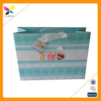 Custom printed logo paper shopping bags with best price