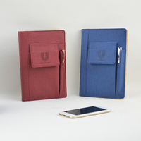 customized phone case and pen holder notebook