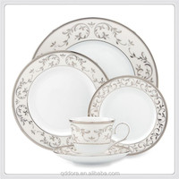 french luxury porcelain dinner set,Luxury embossed ceramic dinnerware