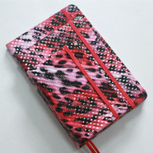high quality promotional red leopard print pvc leather notebook
