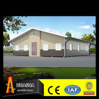 40ft luxurious modern good insulation two slope prefab villas for sale