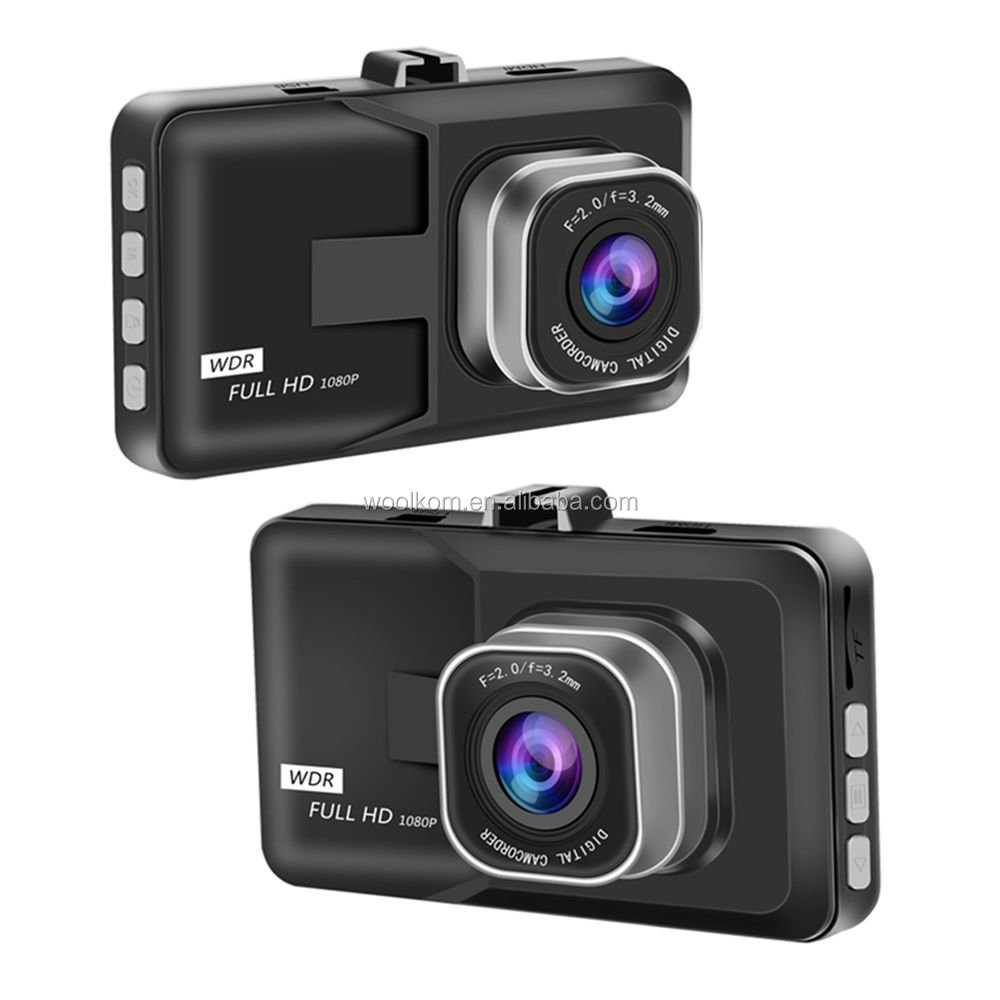 "Metal Shelled 3"" LCD Screen Full HD 1080P Night Vision Dashcam DVR Video Recorder with Built-In G-Sensor and WDR"