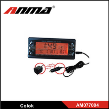 Black Car Alarm Monitor LCD Temperature Thermometer Digital Clock