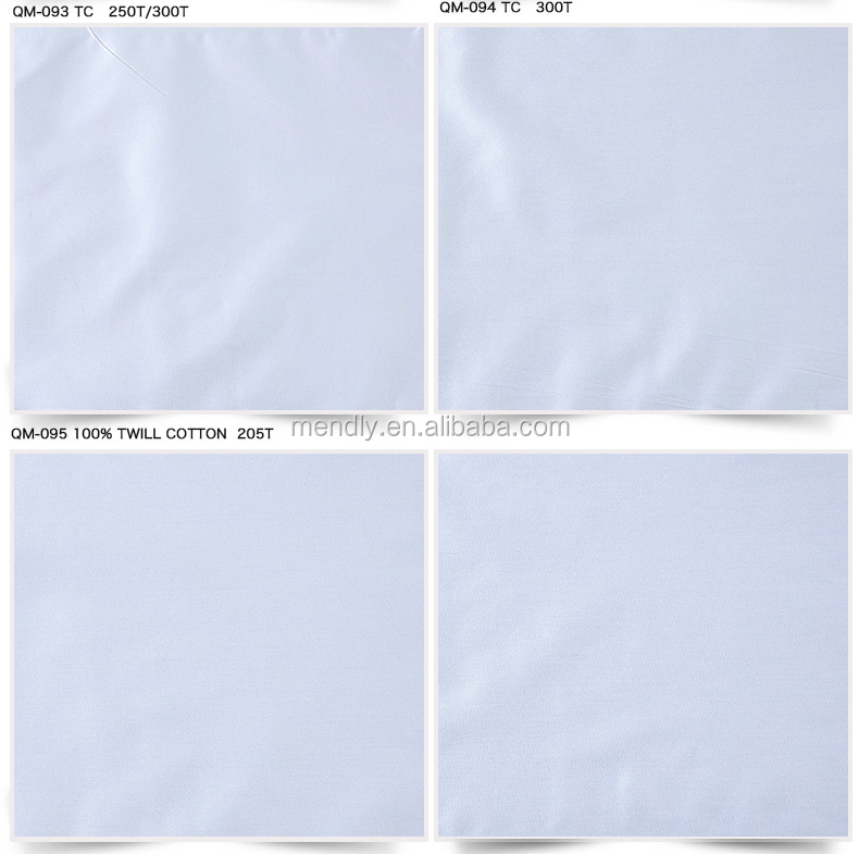 60s 100% cotton/pure cotton bleached white color woven fabric