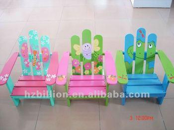 Colourful Wooden Kids Beach Chair