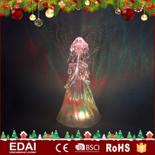 LED Acrylic Angel wings Christmas LED Angel palying instrument decoration Transparent Christmas light angel decoration
