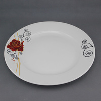 Flower Pattern ceramic plates chinese style luxury design plain ceramic plate
