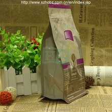 Stand up aluminum foil resealable packaging bag