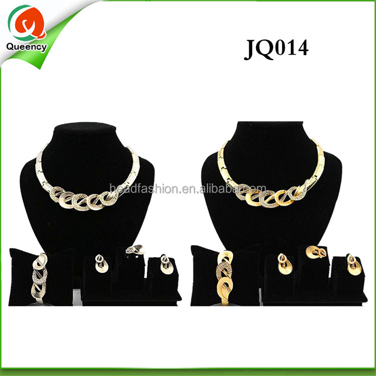 fashion wholesale dubai 18k gold jewelry sets african custom gold plated jewelry set