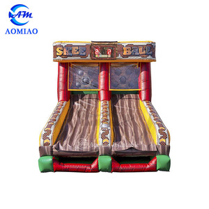 Carnival Interactive game inflatable skee ball with IPS system