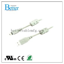 Super quality OEM white color usb cable am to mini b 5pin
