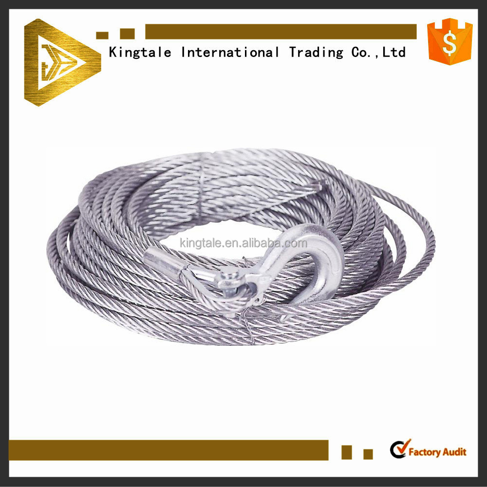 Steel wire rope tow rope for emergency situation