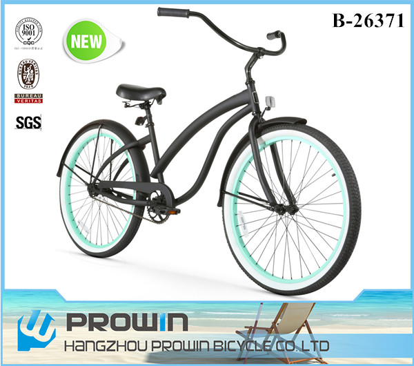 "Canada market 26"" single speed beach cruiser bicycle/26 inch chopper bike/wholesale cruiser bikes (PW-B26371)"