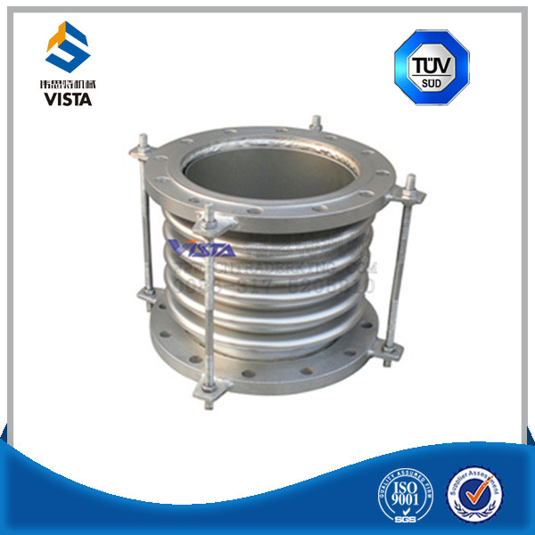 axial flexible corrugated expansion joint ended with flange or pipe