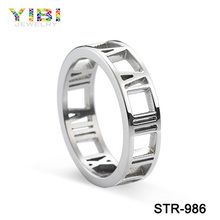 Wholesale stainless steel polished ring for men's fashion jewelry