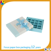 custom with ribbon packaging kraft box insert