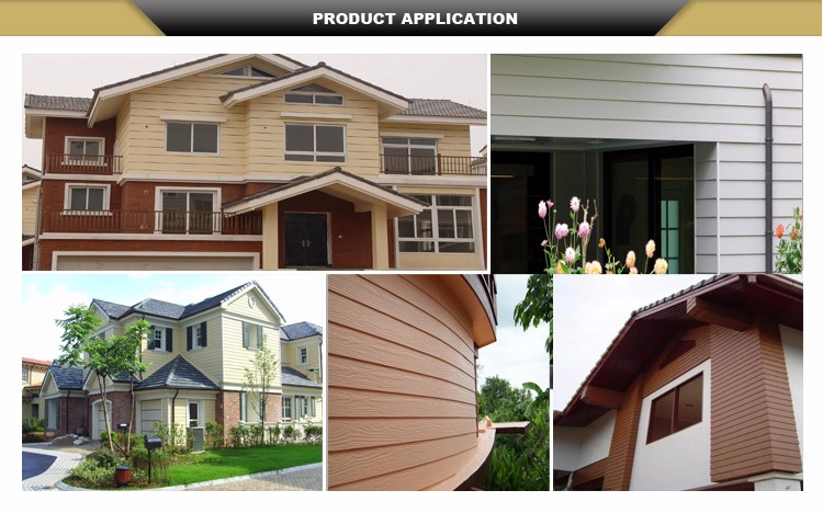 Exterior Interior Wall Panels Wood Fiber Cement Siding Panels for Building Project