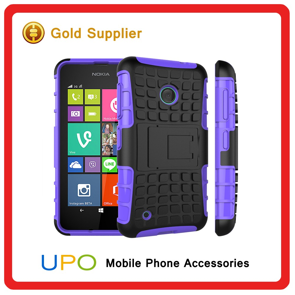[UPO] Newest Heavy Duty Kickstand Hybrid Combo Armor Shockproof Drop proof Mobile Cover for NOKIA 530