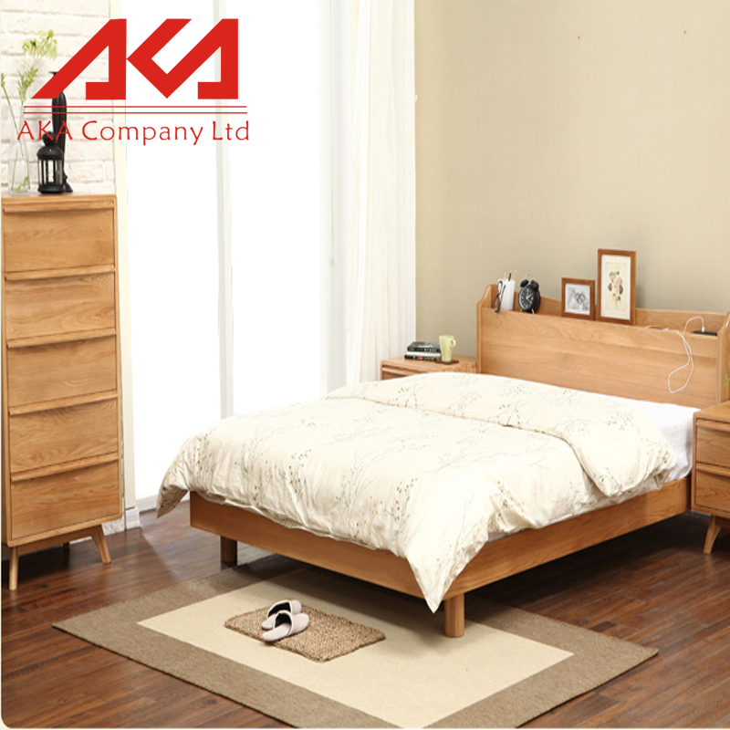 Scandinavian Style Furniture Pine Wood Solid Wood Beds