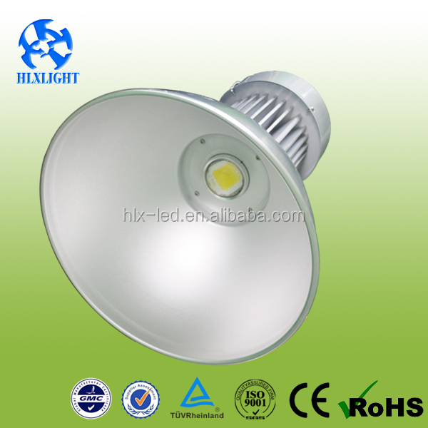 50W Lamps for Industrial Sheds CE ROHS AC85-265V Bridgelux LED High Bay Light