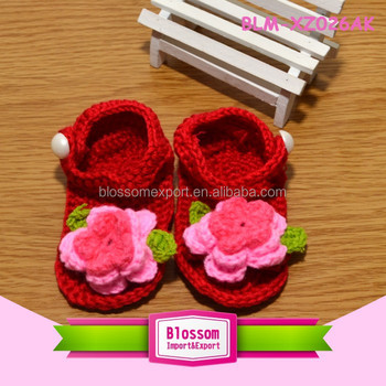 Baby red design summer wholesale baby shoes in bulk