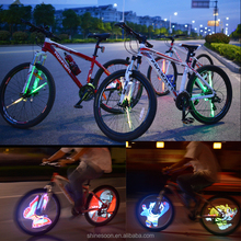 Flash 21 Coforful Cartoon Picture Programmable Mini Bicycle Bike Cycling Hub LED Wheel Light Waterproof