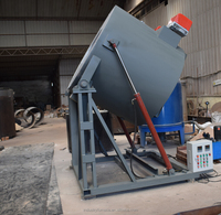 Tilting type graphite crucible diesel oil fired melting furnace