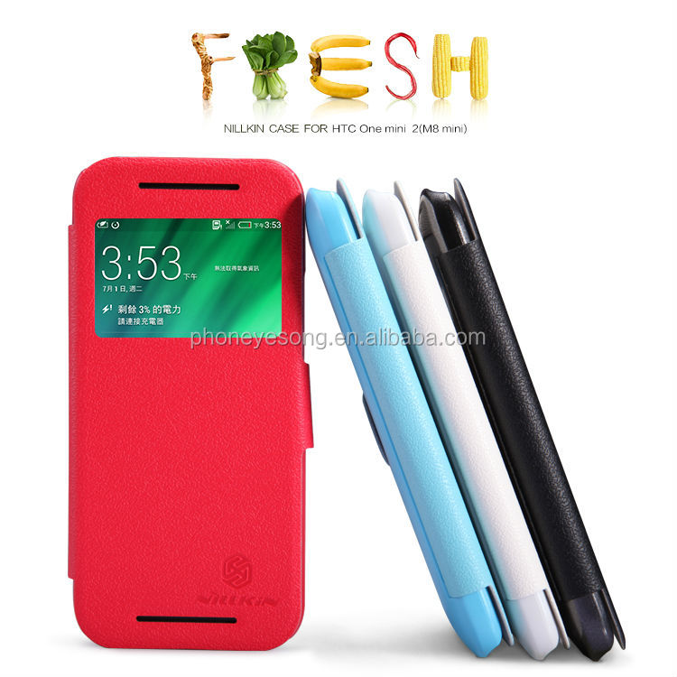 Hot selling flip Leather Case For HTC One mini 2(M8 mini) made in China