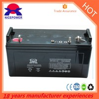 cheap and fine 12v100ah sealed lead acid battery 6-dzm-20 use for home solar system