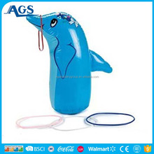 Funny inflatable dolphin PVC Inflatable Toys for kids