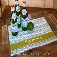 Promotional high quality acrylic beverage tray