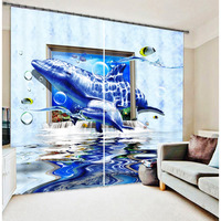 TOP ONE first -class quality creative designs 3d sheer blackout printing curtain