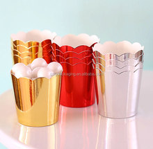 Gold Foil Crown Dessert Paper Baking Cups For Muffin Cupcake Wrappers
