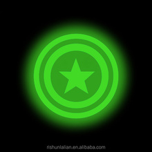 Custom soft glow in the dark 3d 2d pvc patch for hat and clothes