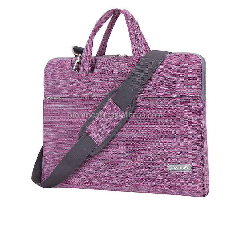 Portable laptop bag with one shoulder simple design promotional light weight laptop bag