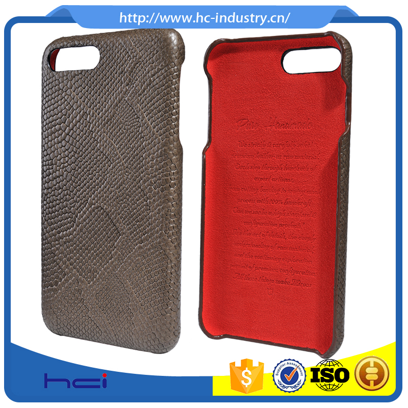 Python pattern mobile phone Leather case for iPhone 7 4.7''