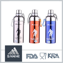 Double Wall Novelty Bike Stainless Steel Football Sport Drink Bottle