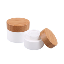 Plastic jar with bamboo lid