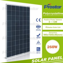 Black and Sliver frame 60 cells 250 watt 255 w 260Wp 265w poly crystalline solar panel