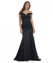 Black long european style haute couture party wear dress long formal women dress
