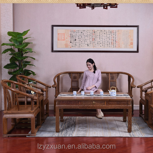 2016 Latest Designs Chinese Antique Mahogany Living Room Furniture Handmade Sofa For Sale