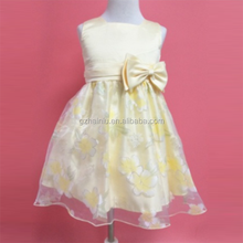 Teen Girl Clothes Christmas Tutu Flower Kids Yellow Dresses For Wedding Baby Girls Kids Ceremonies Party Costumes age 8 9 Years
