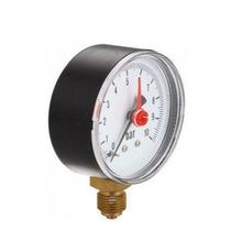 Different Size Steel Plastic Case Back Or Bottom Mounting Pressure Gauge Dry