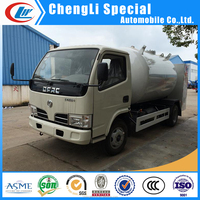 Factory direct sale 4x2 driven model DONGFENG 6CBM Mini LPG gas tank truck