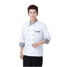 stand collar long sleeve double-breasted button restaurant coat kitchen chef jacket cooking cheap chef uniform