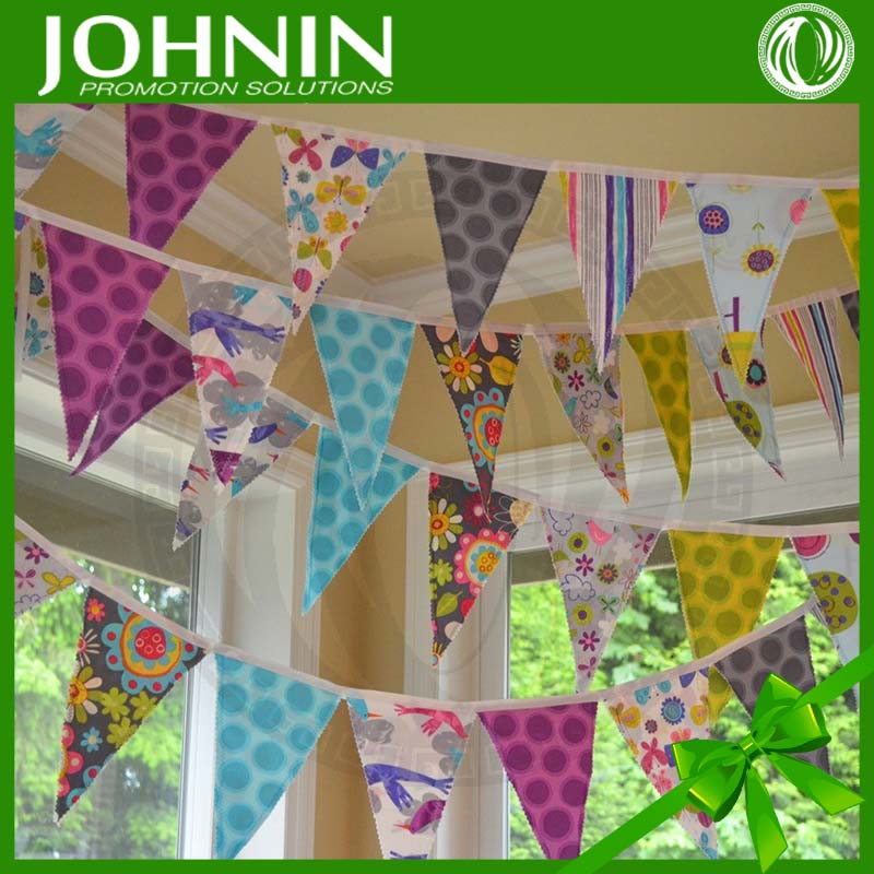 Wholesale Polyester Paper Pennant String Flags Holiday DIY Bunting
