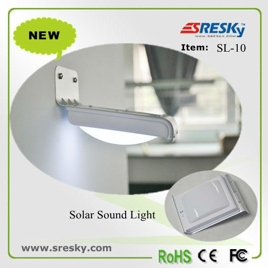 sound activatedsolar led street wall lights