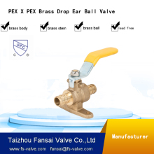 Factory lpg gas cylinder valve brass FF approved ball valve
